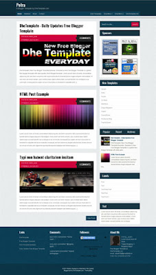 petra blogger template