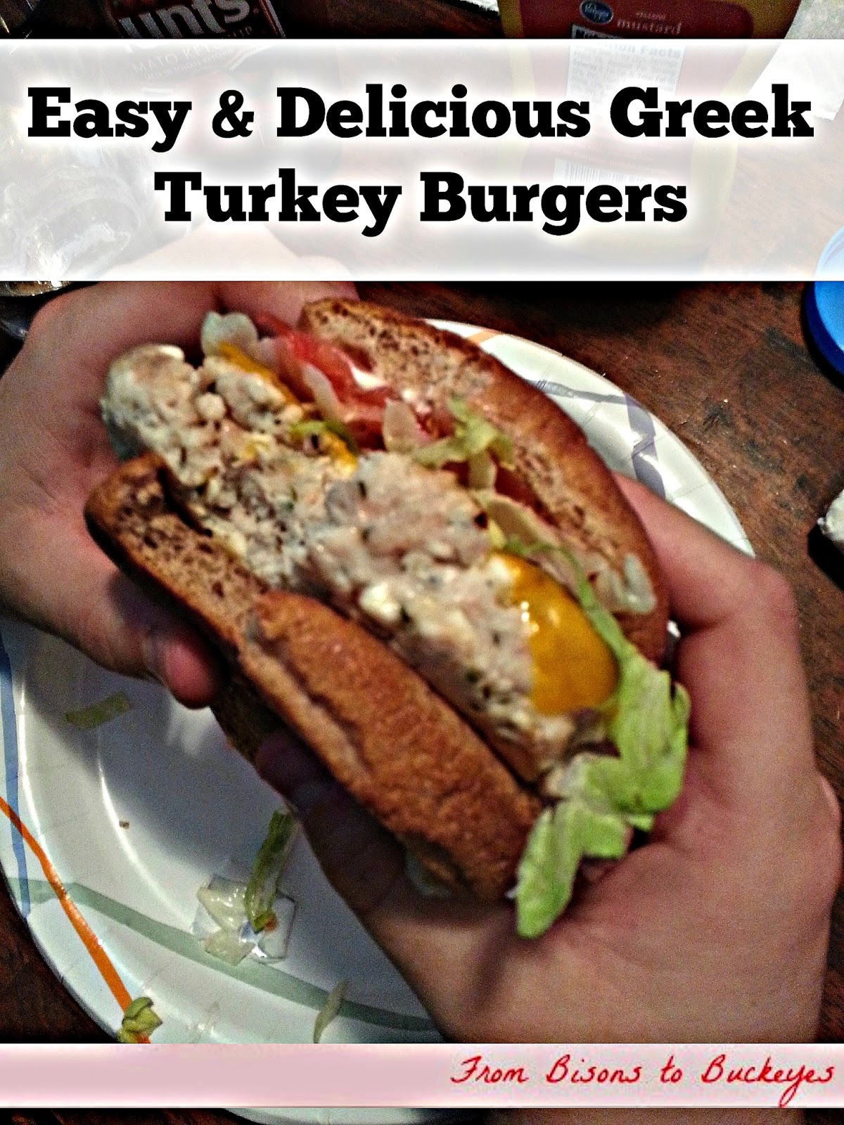 Easy & Delicious Greek Turkey Burgers | Enduring All Things