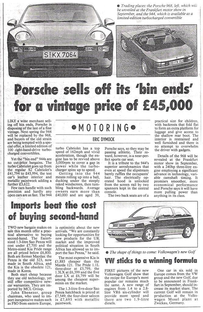 Fine books on cars & motoring from Eric Dymock: June 2011