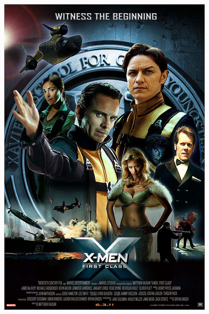 Stewart und McKellen f  252 r  quot X-Men  Days of Future Part quot  verpflichtetX Men First Class 2 Poster