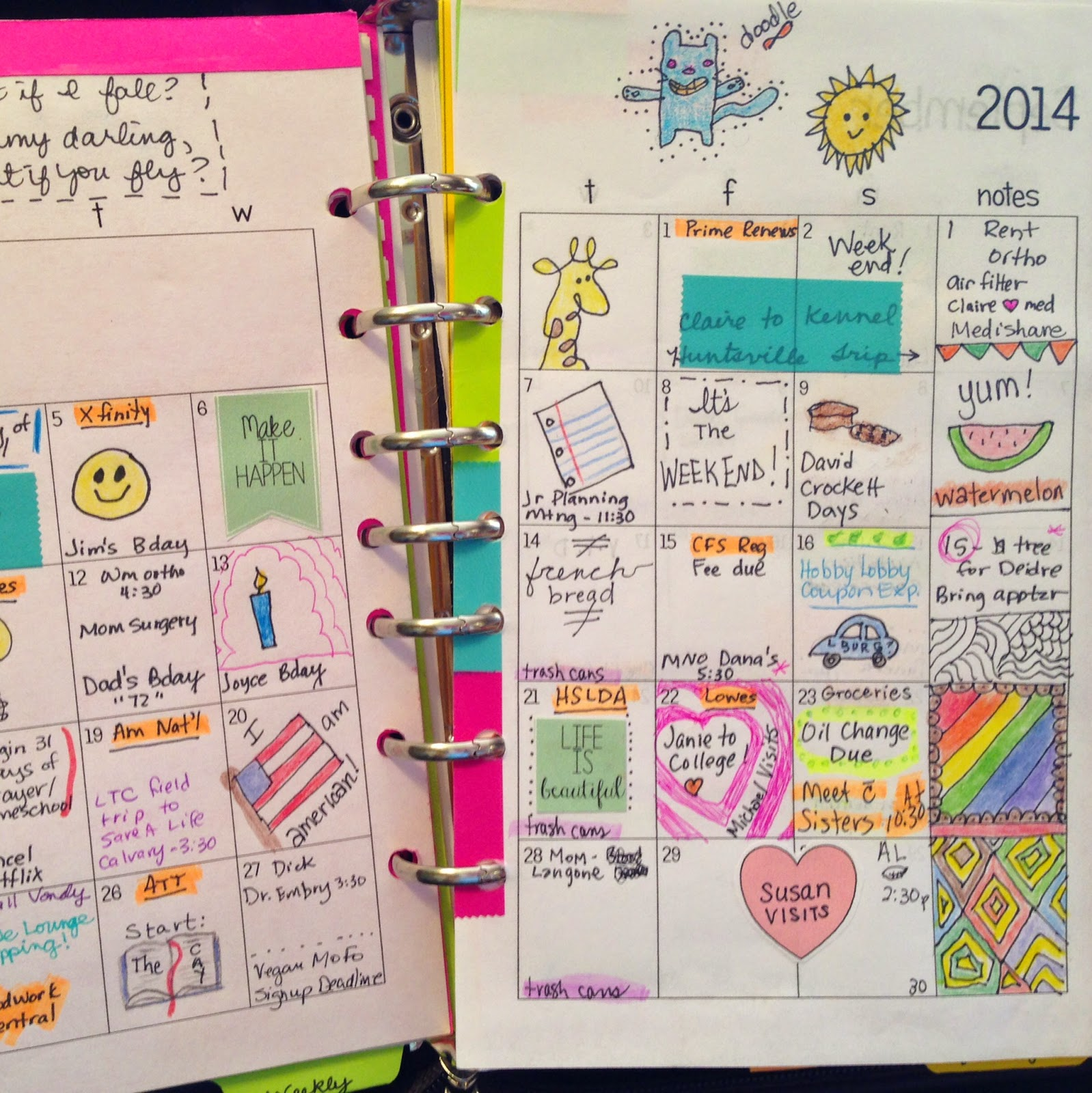31 Days 22 Decorating My Planner Pages Planner Fun