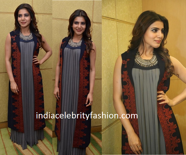 Samantha Ruth Prabhu in Shivangi Sahni Cape Dress