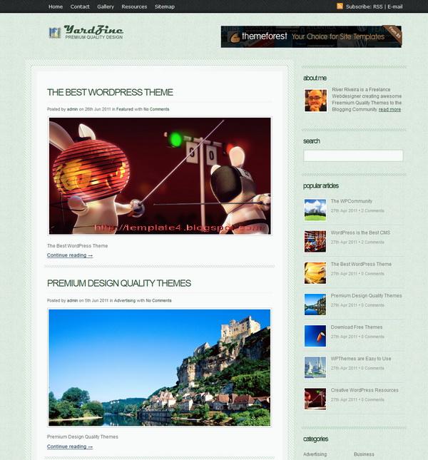 YardZine WordPress Theme