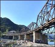 Old Historic Skeena Bridge.