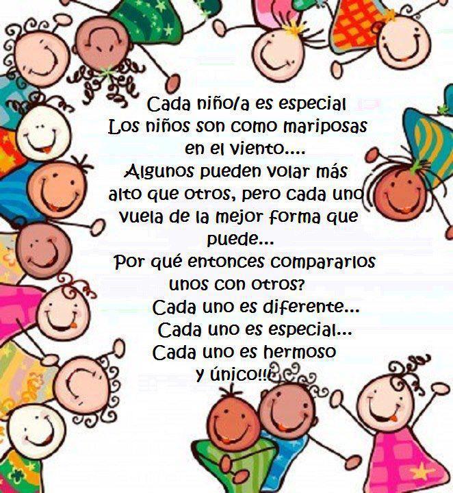 Cada niño/a es especial...