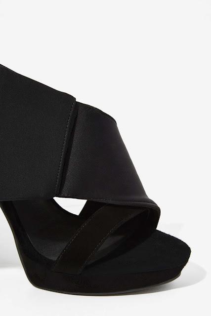 Jeffrey Campbell black tuxedo bow heels