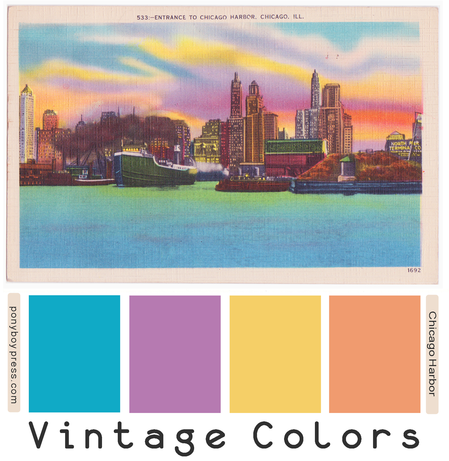 Vintage Color Palettes - Chicago Harbor - ponyboypress.com
