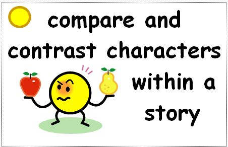 comparison of the characters in a What's so different comparing characters  examine the students' worksheets and use them as a formative assessment of their ability to compare characters from a text.