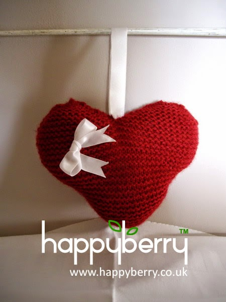 Knitted Heart Pattern For Beginners : Happy Berry Crochet: Free Knitting Heart Pattern - Step by ...