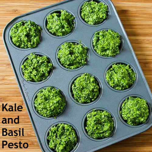 Kale and Basil Pesto with Lemon and Parmesan