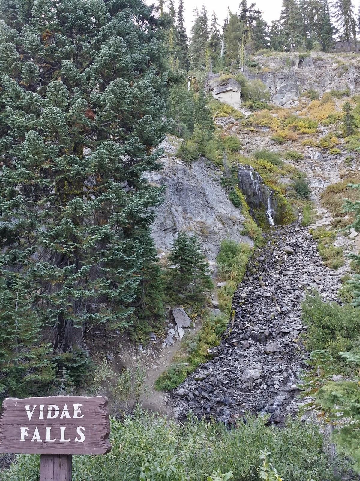 Vidae Falls at Crater Lake