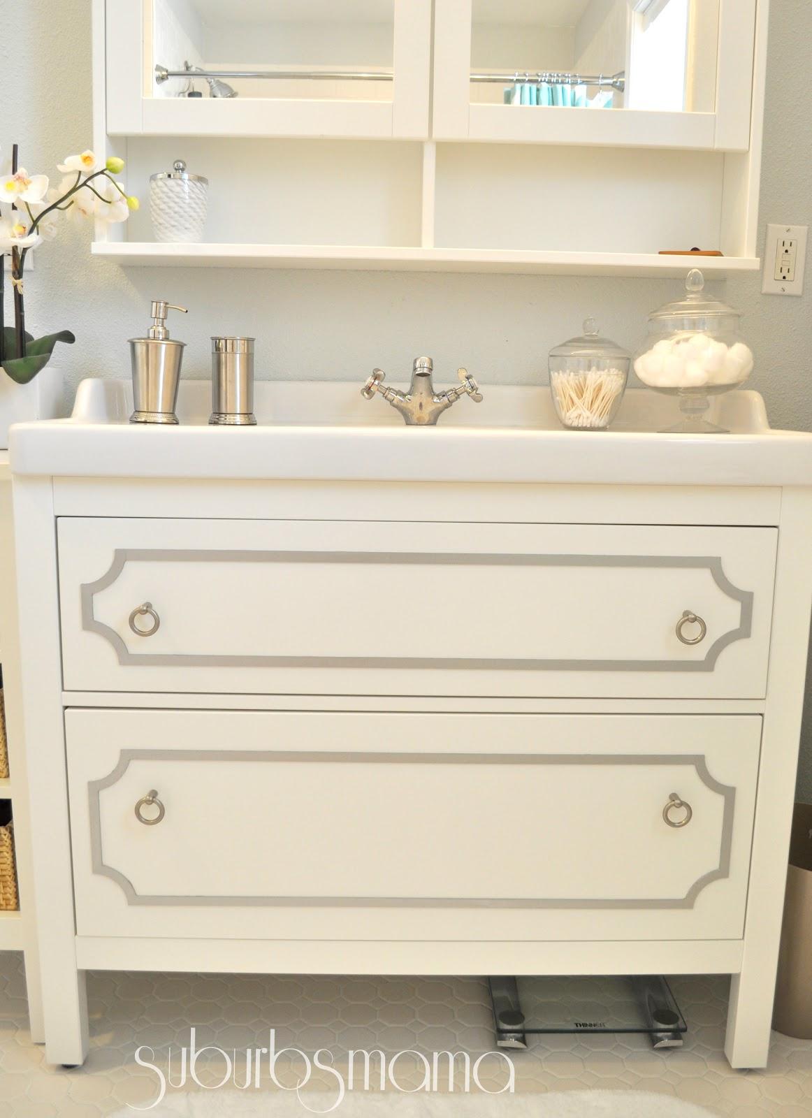 Suburbs mama master bathroom reveal - Ikea bathroom vanity ...