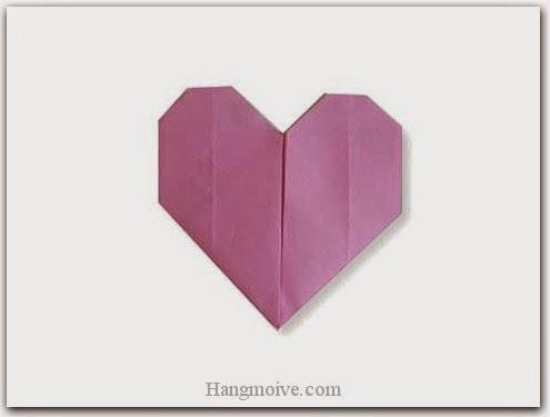 Cách gấp, xếp trái tim đơn giản bằng giấy origami - Video hướng dẫn xếp hình trái tim quà tặng - How to fold a Easy Heart