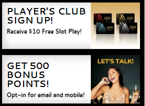 Las Vegas Hotel & Casino Get 500 Points