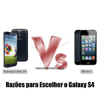 Galaxy S4 ou iPhone 5