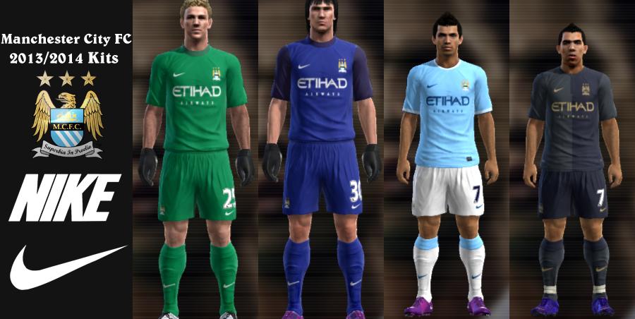 ... Set do Manchester City para a temporada 2013/14. Kits para o PES 2013