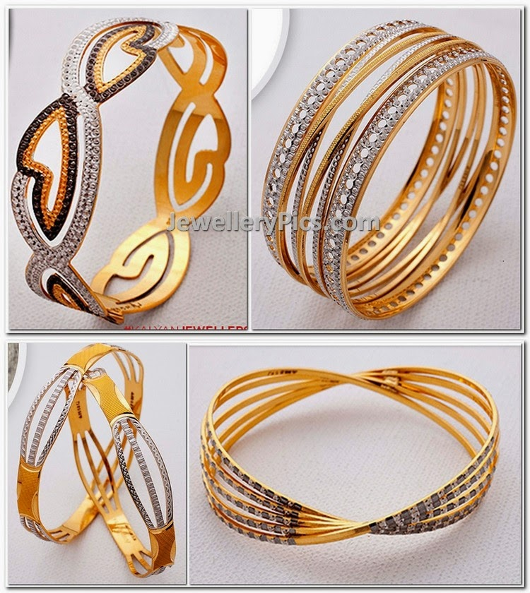 rodium finish gold bangle catalogue