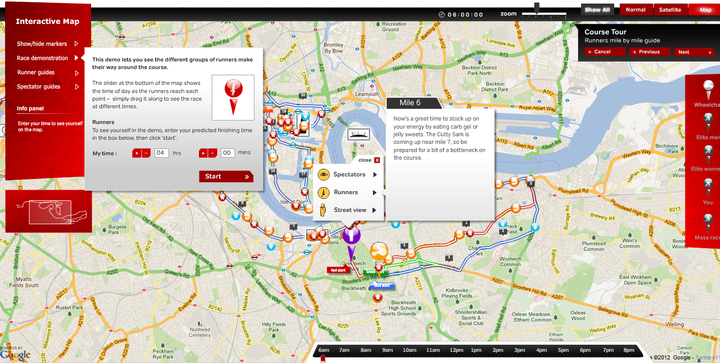 Mapping News By Mapperz - London marathon map