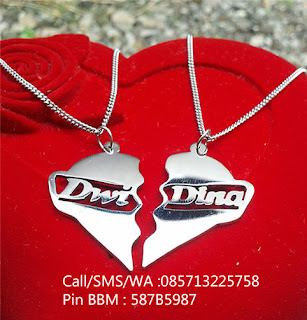 kalung nama monel couple