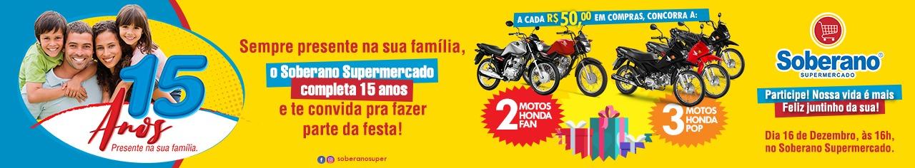 PROMOÇÃO 15 ANOS SUPERMERCADO SOBERANO