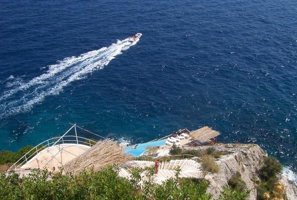 Tawerna Skinari Widok na morze