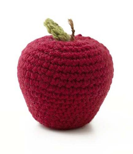 بافت اسکاج میوه ای Pin Amigurumi Food Manzana Purple Plum Y Mandarina Free on Pinterest