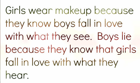 Girls wear makeup because