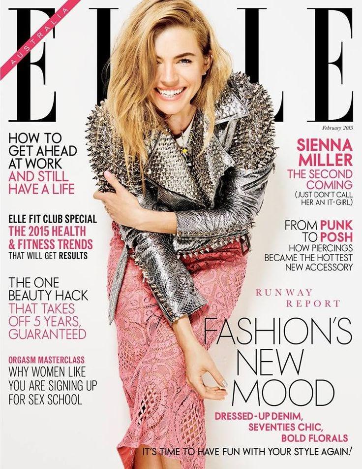 Sienna Miller - Elle, Australia, February 2015