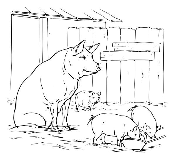 La bolsa de papel: Dibujos para imprimir y colorear de animales
