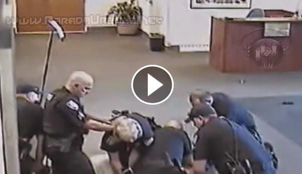 VIDEO INSÓLITO - Mas de 6 Policías no bastaron, para arrestar a un hombre