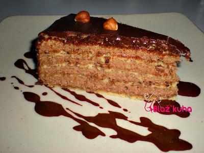 recept za torto, recept za čokoladno torto, recepti za sladice, lešnikova torta