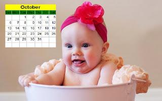 Cue Baby Desktop Calendar 2013