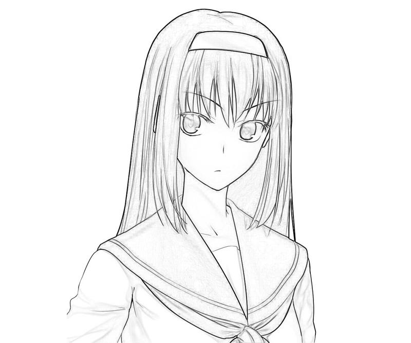 akiha-tohno-face-coloring-pages