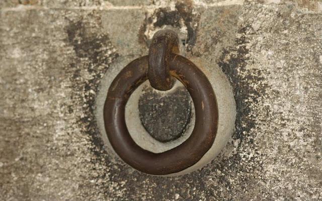 An Iron Ring at Shaniwarwada Fort