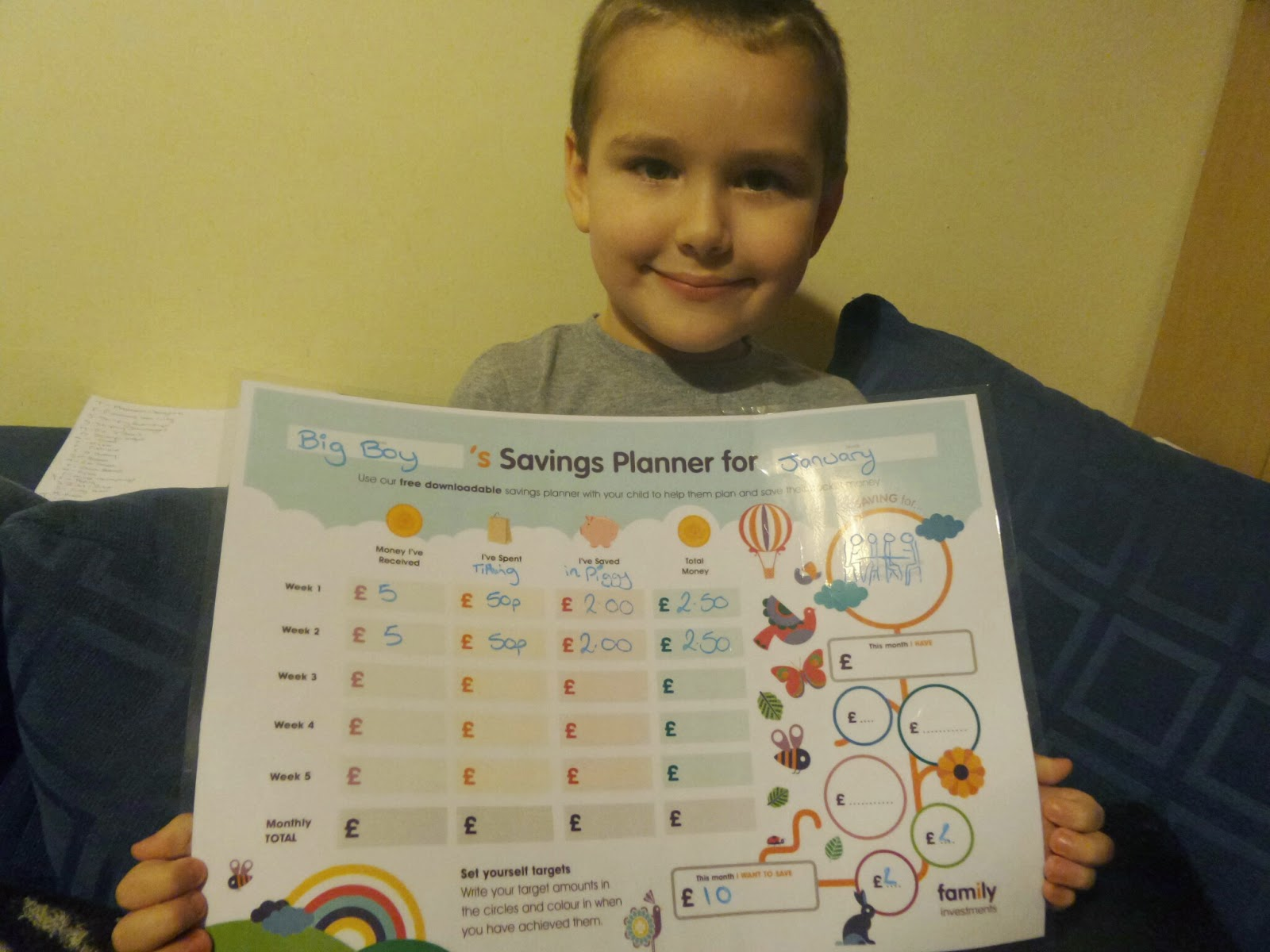 Big Boy and the Savings Planner