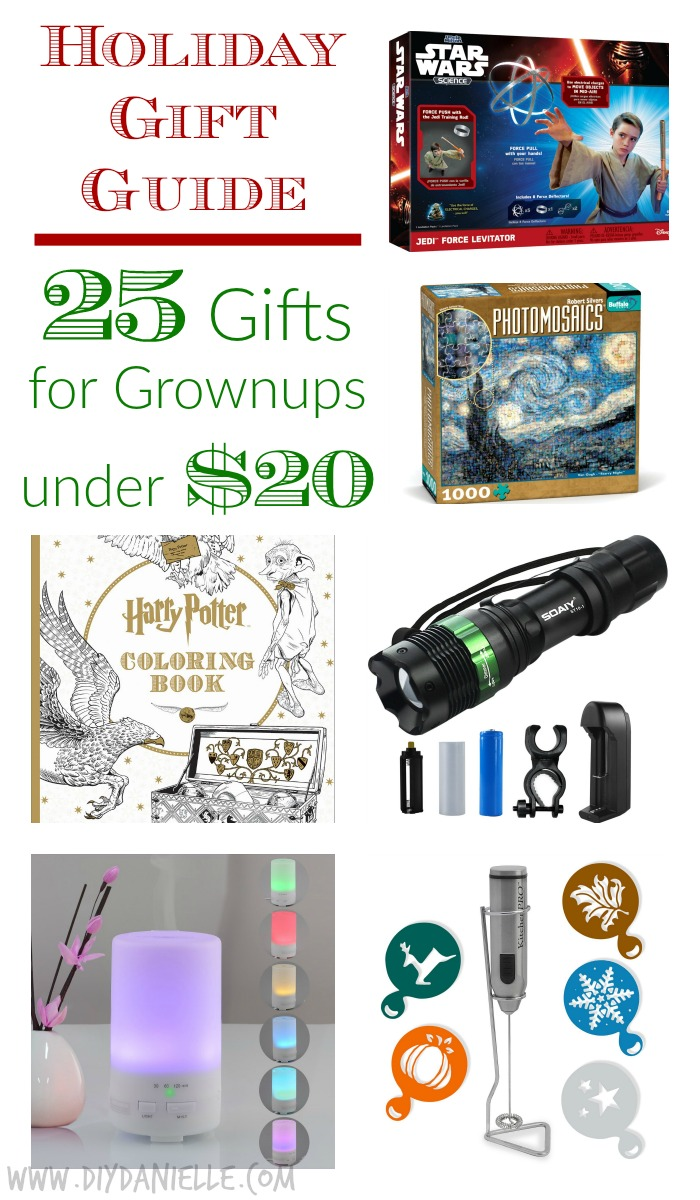 Best Gifts Under 25 holiday gift guide: 25 great gifts for grownups under $20 | diy