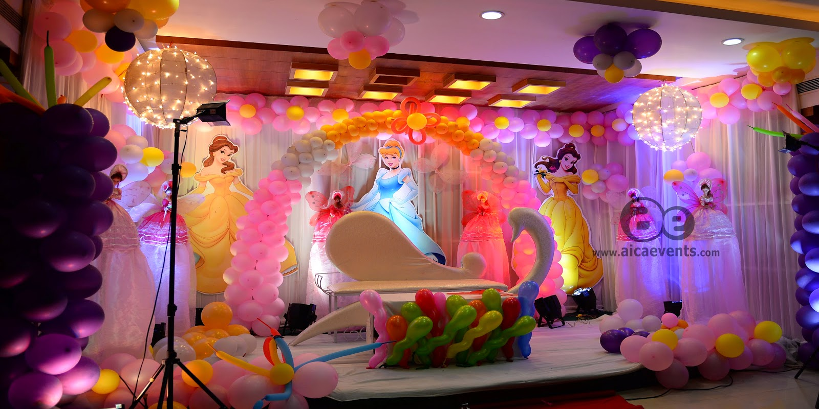 Aicaevents barbie theme decorations by aica events for B day party decoration ideas