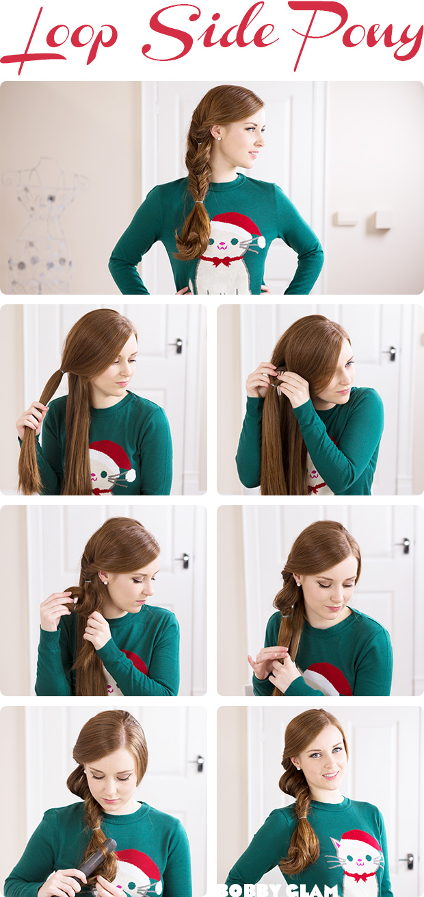 hairstyles: Buckle Side Ponytail Hair Tutorial