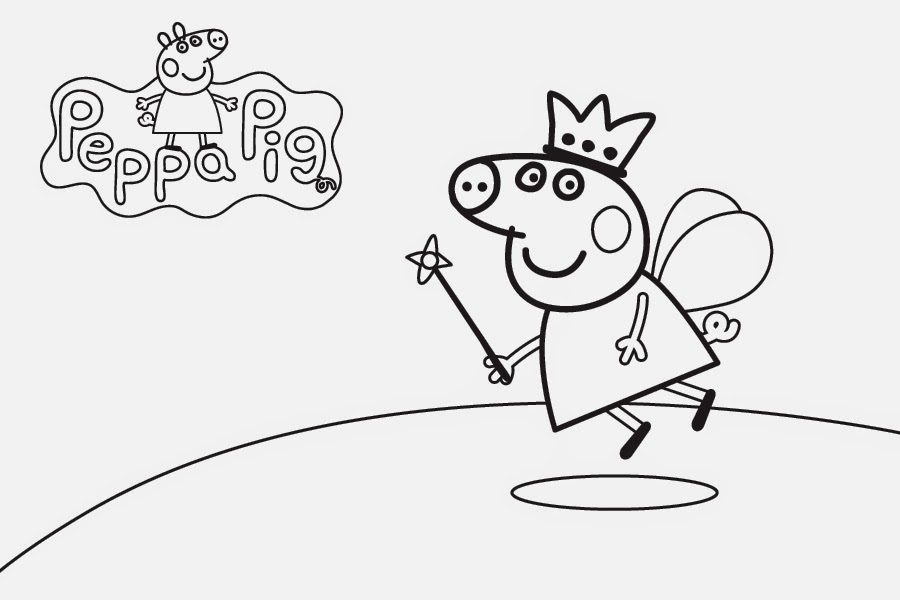 Disegni da colorare peppa pig fatina Coloring drawings for kids