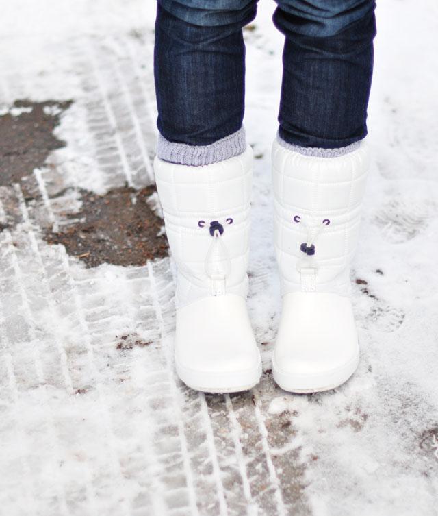 white croc snow boots