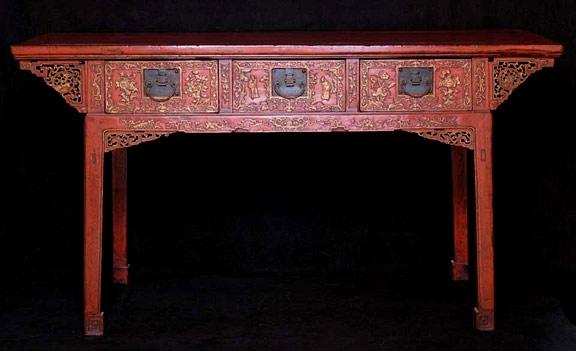 Escuchando palabras el mueble chino for Muebles lacados chinos