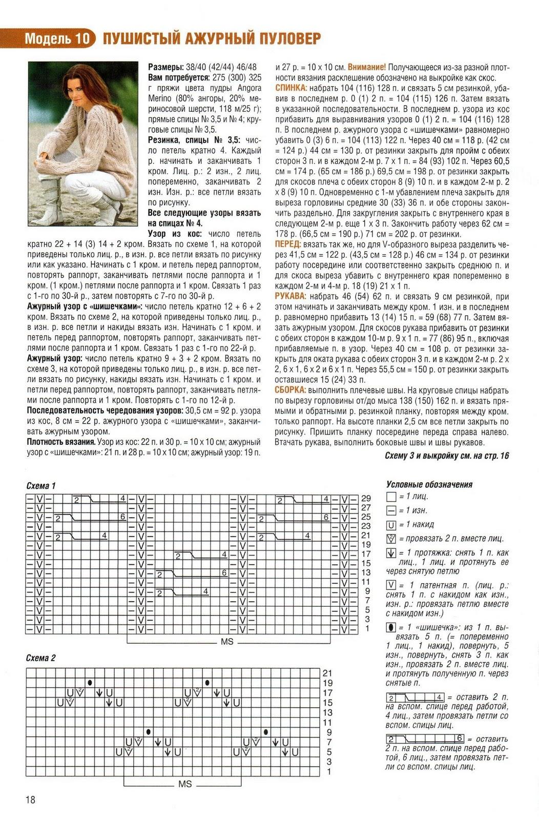 Подборка схем с расширением для вязания 26