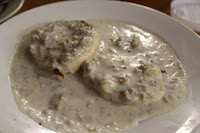 Biscuit and gravy at The Red Cottage, Dennis, Mass.