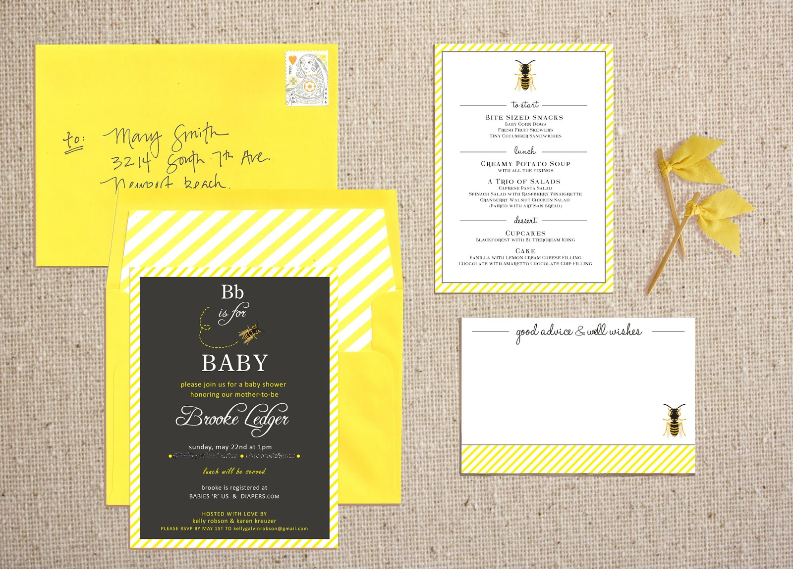 High Street Market: Bb is for Baby Shower (Invitations)