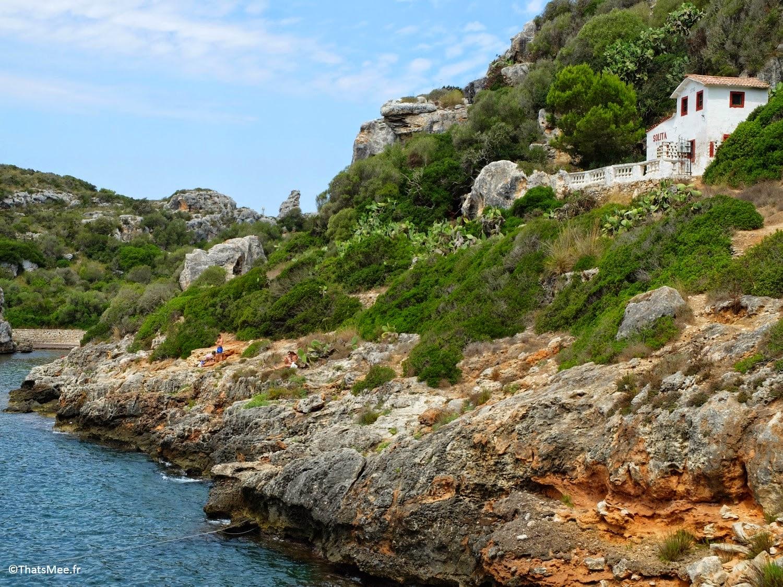 plage amarrage port bateaux Calas Coves crique nécropoles grottes Minorque Menorca