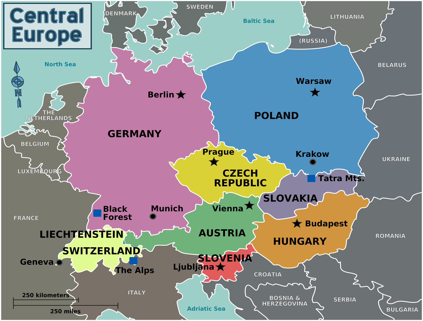 TOURISM GEOGRAPHY Central Europe