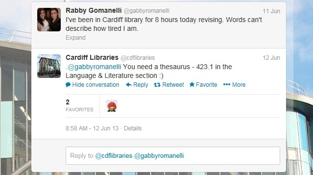 Cardiff Libraries Tweet