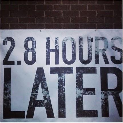 2.8 hours later edinburgh zombie survival sign