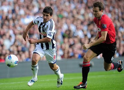 John Evans Manchester United vs West Brom Barclays Premier League