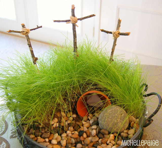 Easter Garden and Grass Growing
